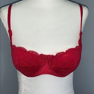 Victoria's Secret Red Lacy Push Up Bra